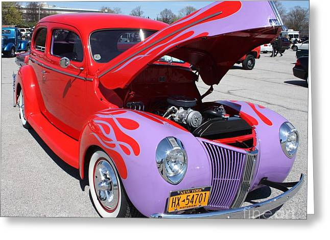 Canon Rebel Greeting Cards - 1940 Ford Two Door Sedan Hot Rod Greeting Card by John Telfer