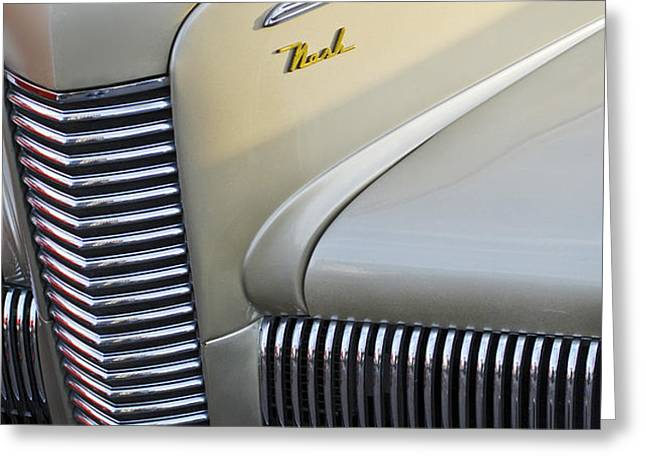 1940 Nash Grille Greeting Card by Jill Reger