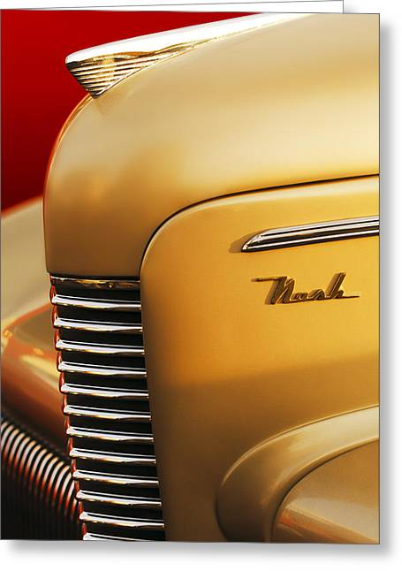 Transportation Greeting Cards - 1940 Nash Sedan Grille Greeting Card by Jill Reger