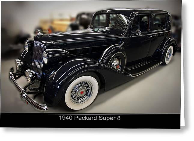 1940 Packard Super 8 Greeting Card by Chris Flees
