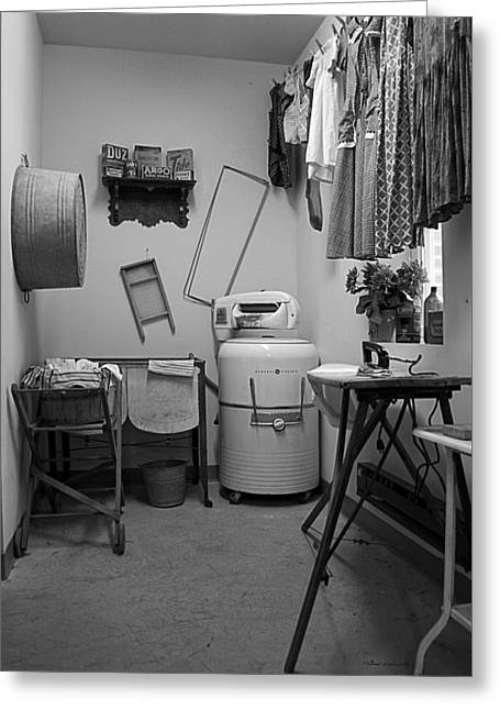 Wash Pail Greeting Cards - 1940ish Laundry Room Greeting Card by Thomas Woolworth