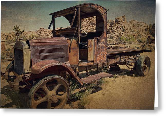 Vintage Greeting Cards - 1940s Mack Truck Greeting Card by Sandra Selle Rodriguez