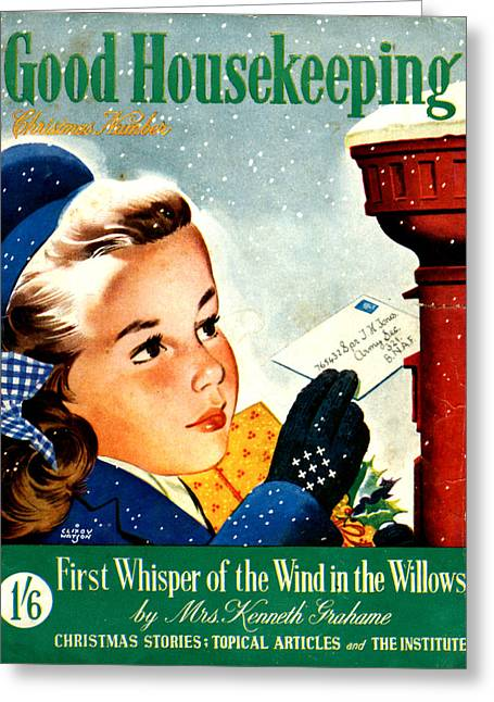 Housekeeping Greeting Cards - 1940s Uk Good Housekeeping Magazine Greeting Card by The Advertising Archives