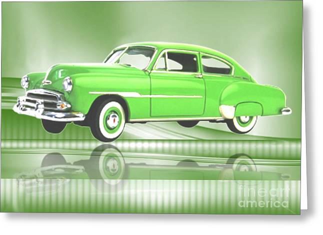 1951 Drawings Greeting Cards -  1951 Chevrolet Greeting Card by Belinda Threeths