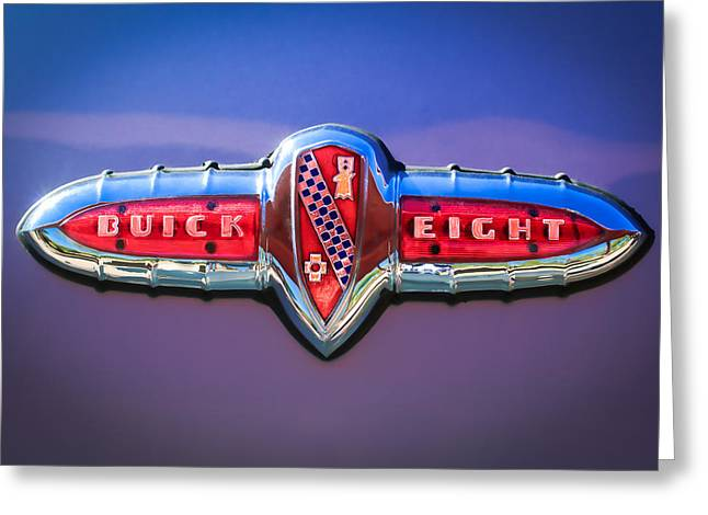 1941 Greeting Cards - 1941 Buick Eight Special Emblem Greeting Card by Jill Reger