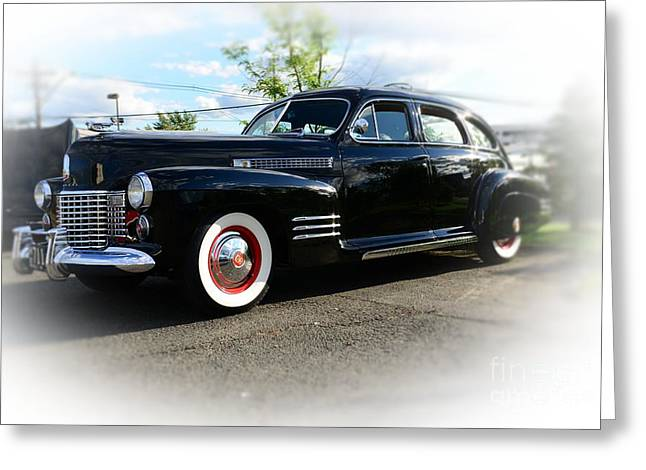 Caddy Greeting Cards - 1941 Cadillac Coupe Greeting Card by Paul Ward