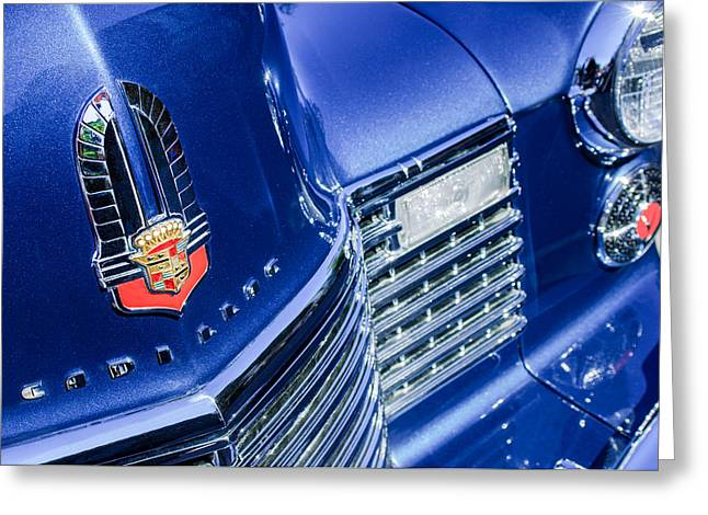 Caddy Greeting Cards - 1941 Cadillac Emblem Greeting Card by Jill Reger