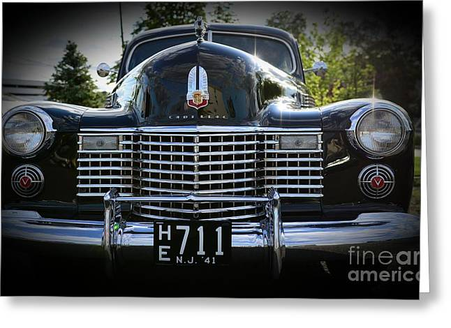 Caddy Greeting Cards - 1941 Cadillac front end Greeting Card by Paul Ward