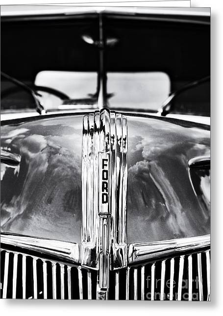 Front End Greeting Cards - 1941 Ford Pick Up Monochrome Greeting Card by Tim Gainey