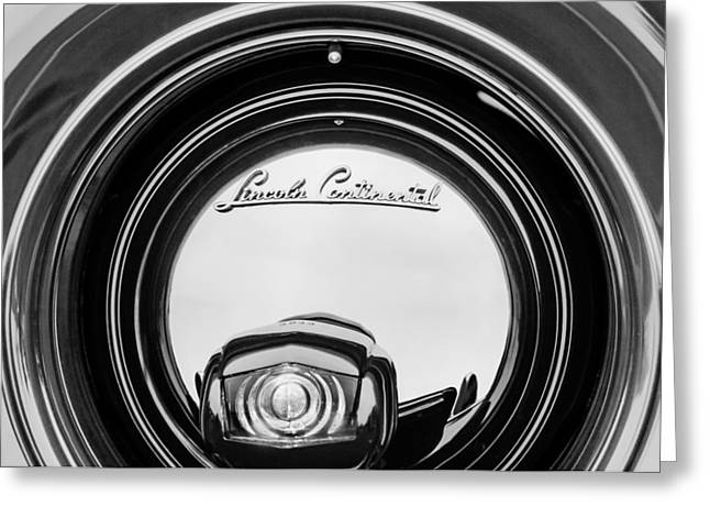 1941 Lincoln Continental Spare Tire Emblem - 1963bw Greeting Card by Jill Reger