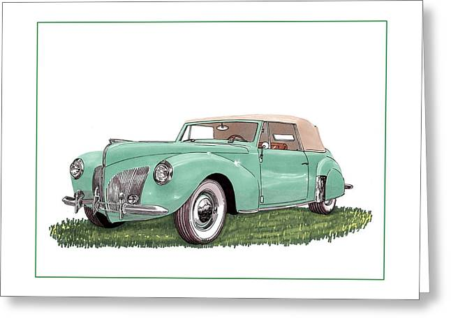 Car Framed Prints Greeting Cards - 1941 Lincoln V-12 Continental Greeting Card by Jack Pumphrey
