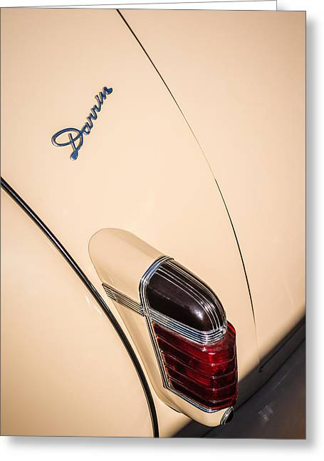 1941 Greeting Cards - 1941 Packard 1906 Darrin Convertible Victoria Taillight Emblem Greeting Card by Jill Reger