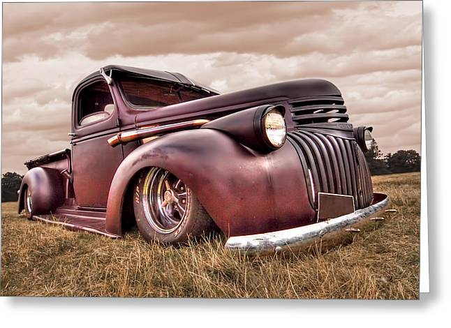 1941 Rusty Chevrolet Greeting Card by Gill Billington