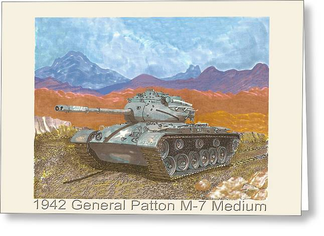End Of War Greeting Cards - 1942 General Patton M 47 Medium Tank Greeting Card by Jack Pumphrey