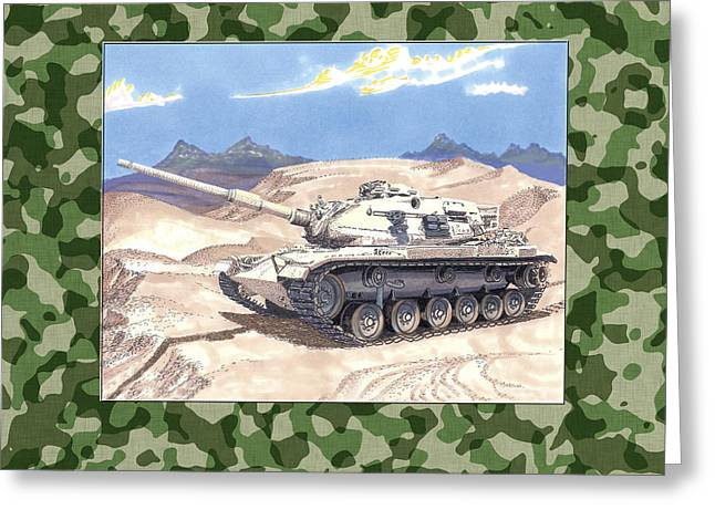 Army Tank Greeting Cards - 1942 General Patton M 60 Medium Tank Greeting Card by Jack Pumphrey