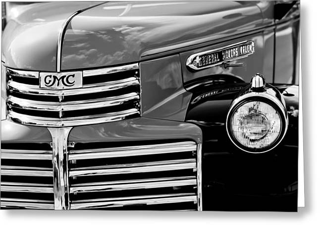 Gmc Greeting Cards - 1942 GMC Grille Emblem Greeting Card by Jill Reger