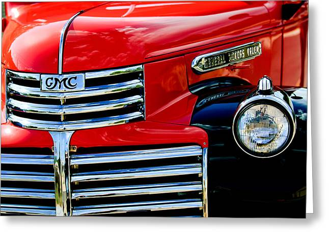 Classic Pickup Truck Greeting Cards - 1942 GMC  Pickup Truck Greeting Card by Jill Reger