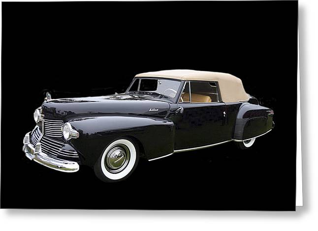 White Cloth Greeting Cards - 1942 Lincoln Continental Cabriolet Greeting Card by Jack Pumphrey