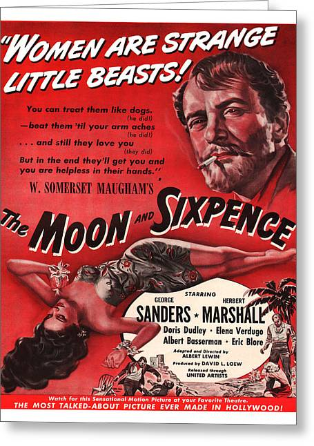 Motion Picture Poster Greeting Cards - 1942 The Moon and Sixpence Motion Picture Poster Greeting Card by Carter Jones
