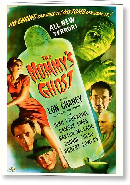 Suspense Mixed Media Greeting Cards - 1944 The Mummys Ghost Vintage Movie Art Greeting Card by Presented By American Classic Art