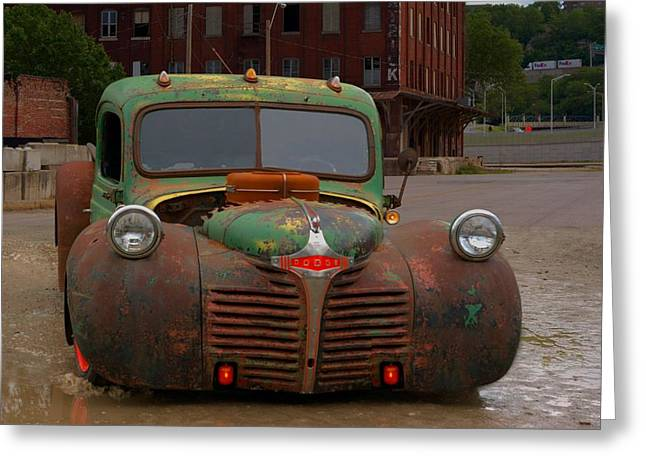 Greaserama Greeting Cards - 1946 Dodge Rat Rod Pickup Greeting Card by Tim McCullough