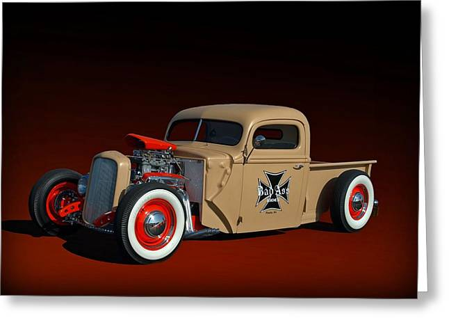 Teemack Greeting Cards - 1946 Ford Hot Rod Pickup Greeting Card by Tim McCullough