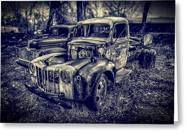 Chopped Greeting Cards - 1946 Ford Pickups Greeting Card by Yo Pedro