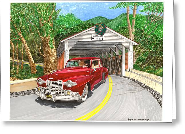 1946 Lincoln Continental Greeting Card by Jack Pumphrey