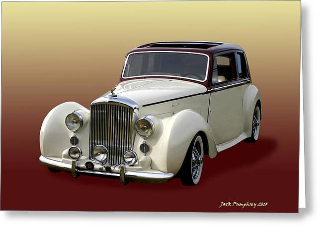 Converting Greeting Cards - 1947 Bentley M K  5   G T X  Greeting Card by Jack Pumphrey