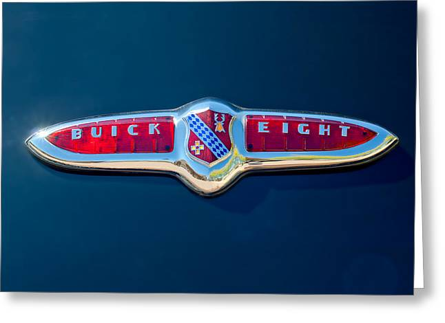 Eight Greeting Cards - 1947 Buick Eight Emblem Greeting Card by Jill Reger