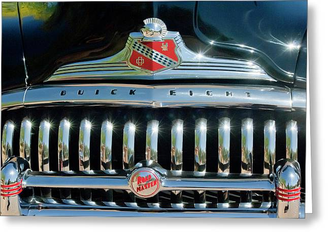 1947 Greeting Cards - 1947 Buick Sedanette Grille Greeting Card by Jill Reger