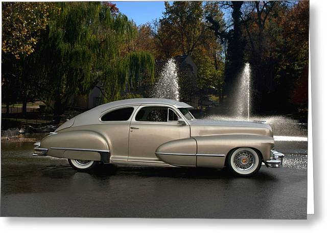 1947 Cadillac Greeting Cards - 1947 Cadillac Coupe Rodtique Greeting Card by Tim McCullough