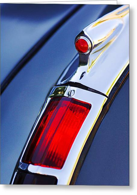 1947 Cadillac Greeting Cards - 1947 Cadillac Model 62 Coupe Taillight  Greeting Card by Jill Reger
