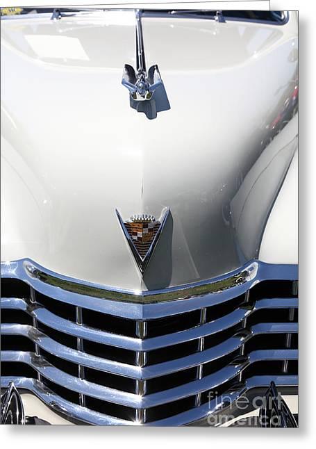 1947 Cadillac Greeting Cards - 1947 Cadillac Series 62 Sedan 5D22829 Greeting Card by Wingsdomain Art and Photography