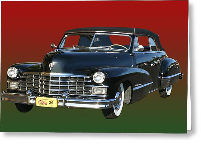 After World Greeting Cards - 1947 Cadillac Sixty Two Convertible Greeting Card by Jack Pumphrey