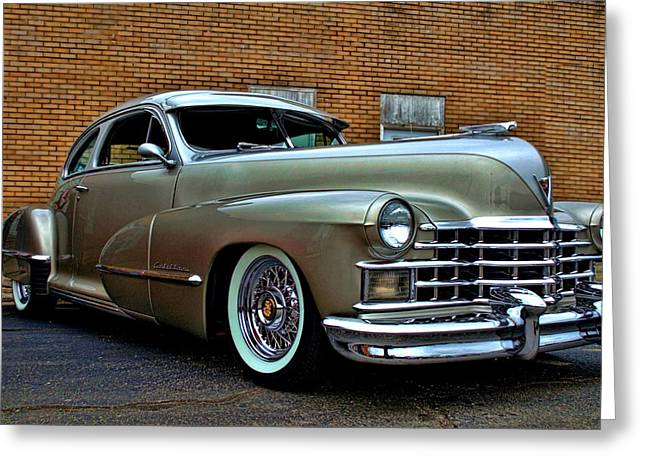 1947 Cadillac Greeting Cards - 1947 Cadillac Street Rod Greeting Card by Tim McCullough