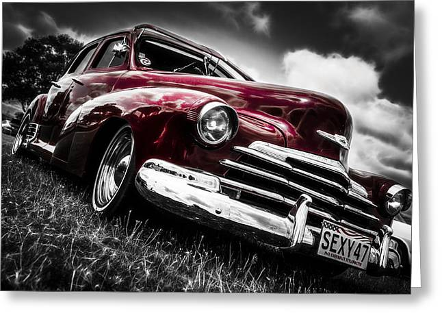 Aotearoa Greeting Cards - 1947 Chevrolet Stylemaster Greeting Card by motography aka Phil Clark