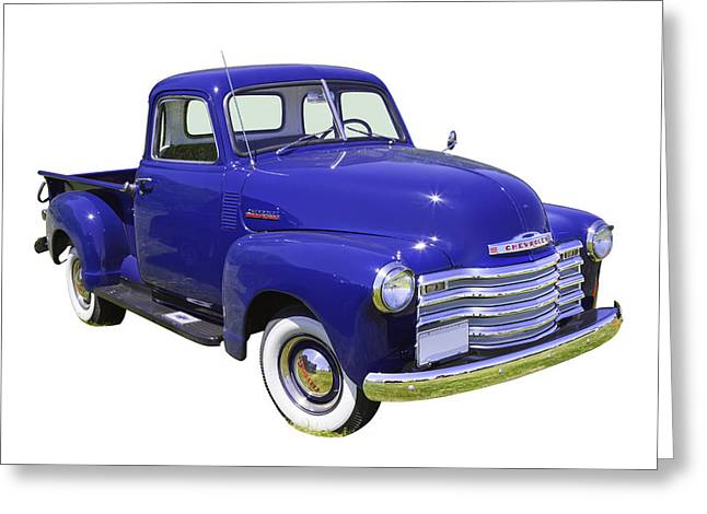 Chevrolet Pickup Truck Greeting Cards - 1947 Chevrolet Thriftmaster Antique Pickup Greeting Card by Keith Webber Jr