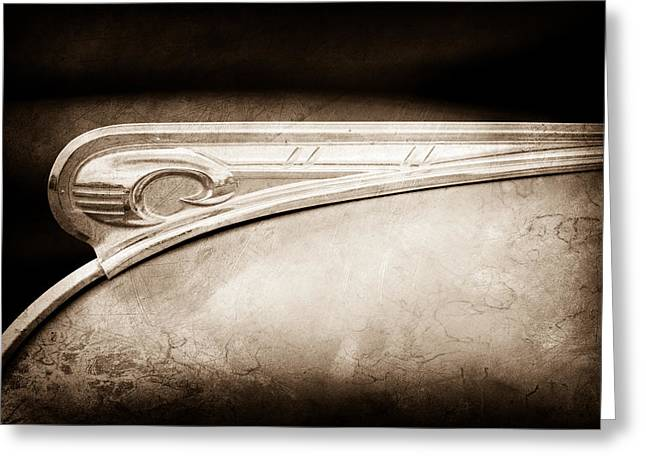 Gi Photographs Greeting Cards - 1947 Dodge GI Joe Hood Ornament Greeting Card by Jill Reger