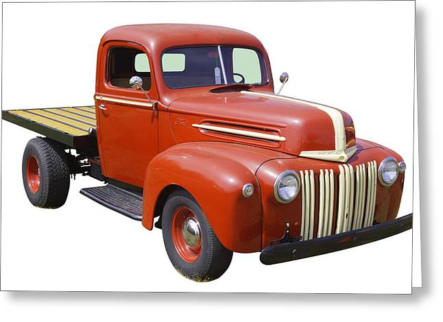Classic Truck Greeting Cards - 1947 Ford Flat Bed Pickup Truck Greeting Card by Keith Webber Jr