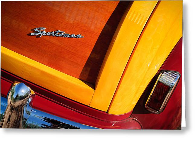 1947 Greeting Cards - 1947 Ford Super Deluxe Sportsman Convertible Taillight Emblem Greeting Card by Jill Reger