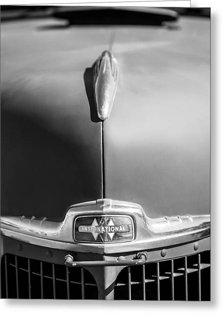 1947 Greeting Cards - 1947 International Hood Ornament - Emblem Greeting Card by Jill Reger