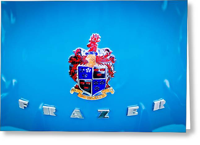 Kaiser Greeting Cards - 1947 Kaiser-Frazer Emblem Greeting Card by Jill Reger