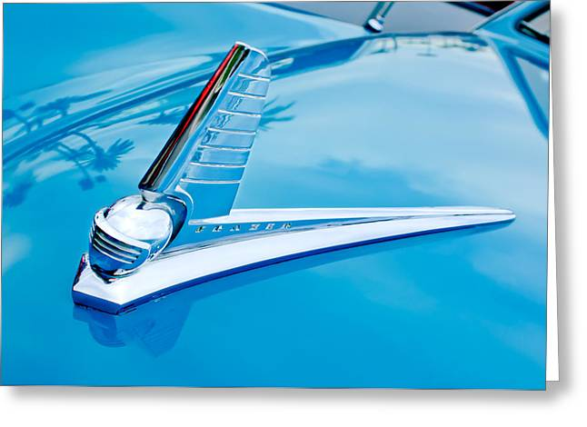 Kaiser Greeting Cards - 1947 Kaiser-Frazer Hood Ornament 2 Greeting Card by Jill Reger