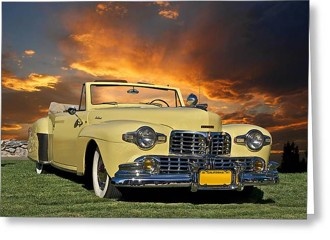 Family Car Greeting Cards - 1947 Lincoln Continental Cabriolet Greeting Card by Dave Koontz