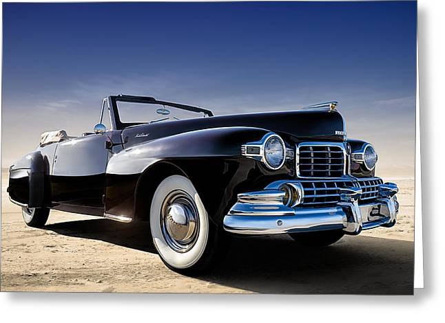 Auto Greeting Cards - 1947 Lincoln Continental Greeting Card by Douglas Pittman