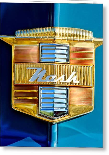 1947 Greeting Cards - 1947 Nash Suburban Emblem Greeting Card by Jill Reger
