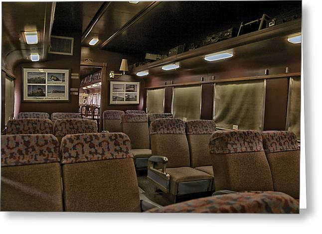 Central Il Greeting Cards - 1947 Pullman Railroad Car Interior Seating Greeting Card by Thomas Woolworth