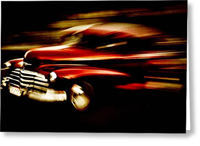 D700 Photographs Greeting Cards - 1947 Red Chevrolet Greeting Card by Phil
