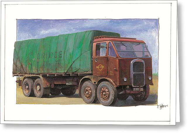 Original For Sale Greeting Cards - 1947 Scammell R8 Greeting Card by Mike  Jeffries
